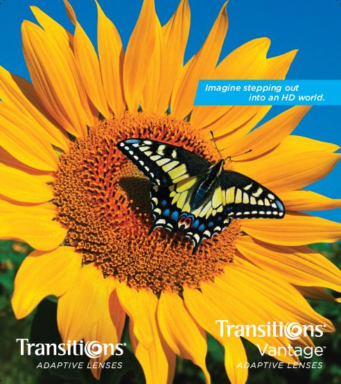 Transitions Vantage lenses: Eyecare professional Brochure
